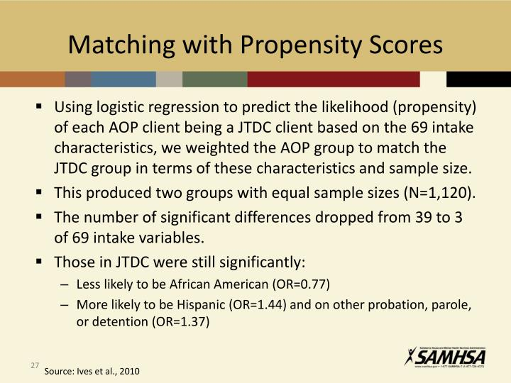 Matching with Propensity Scores