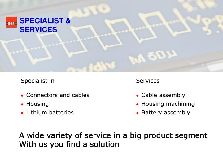 SPECIALIST & SERVICES