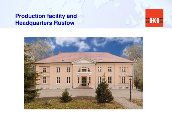 Production facility and