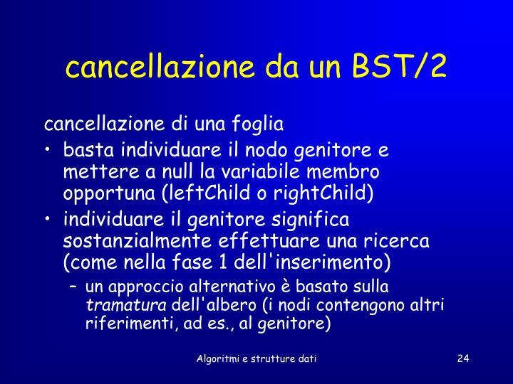 cancellazione da un BST/2