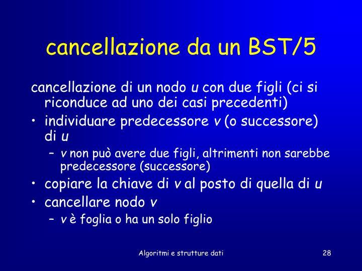 cancellazione da un BST/5