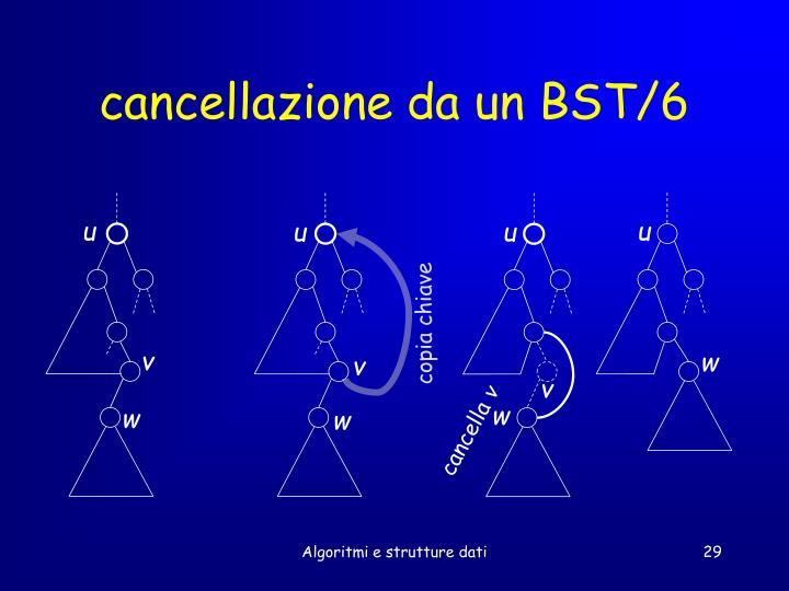 cancellazione da un BST/6