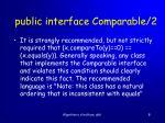 public interface comparable 2