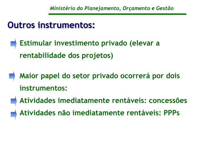 Outros instrumentos: