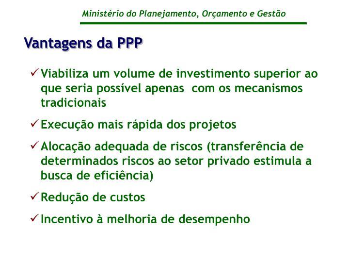 Vantagens da PPP