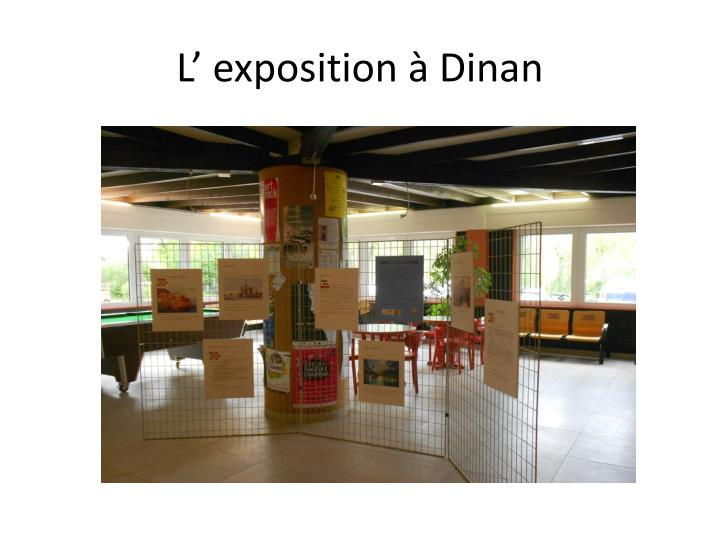L' exposition à Dinan