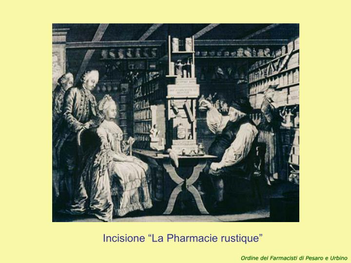 "Incisione ""La Pharmacie rustique"""