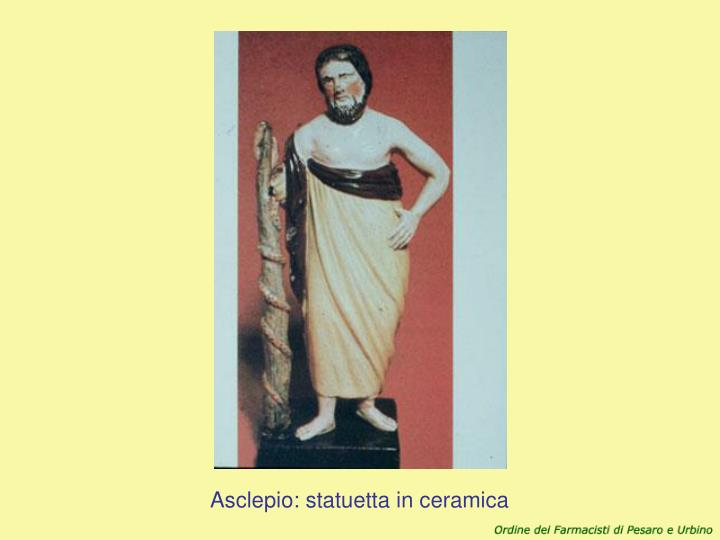 Asclepio: statuetta in ceramica