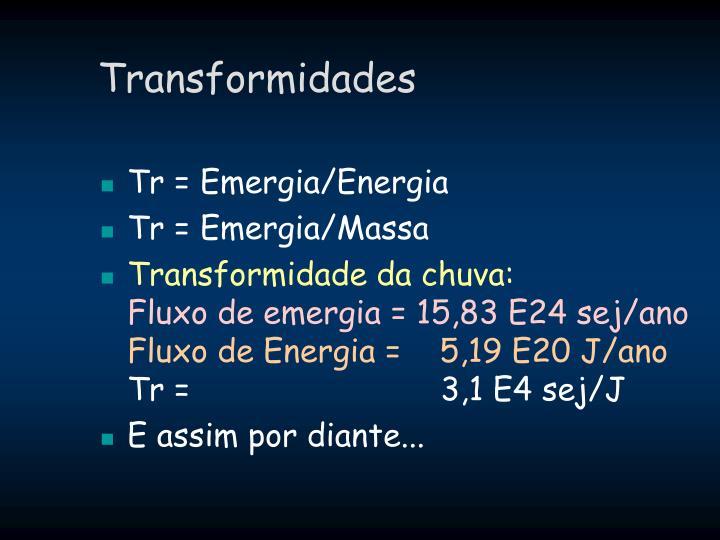 Transformidades