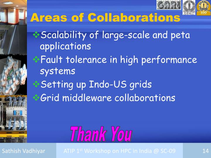Areas of Collaborations