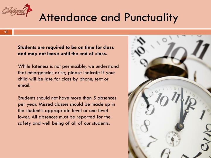 Attendance and Punctuality