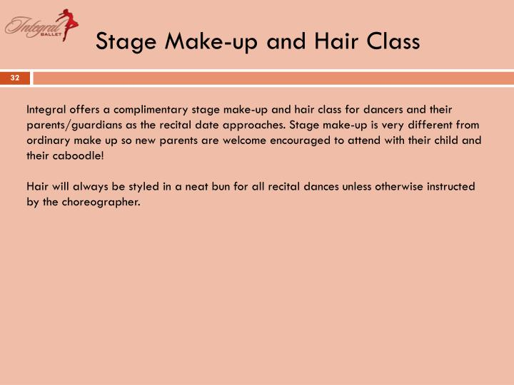 Stage Make-up and Hair Class