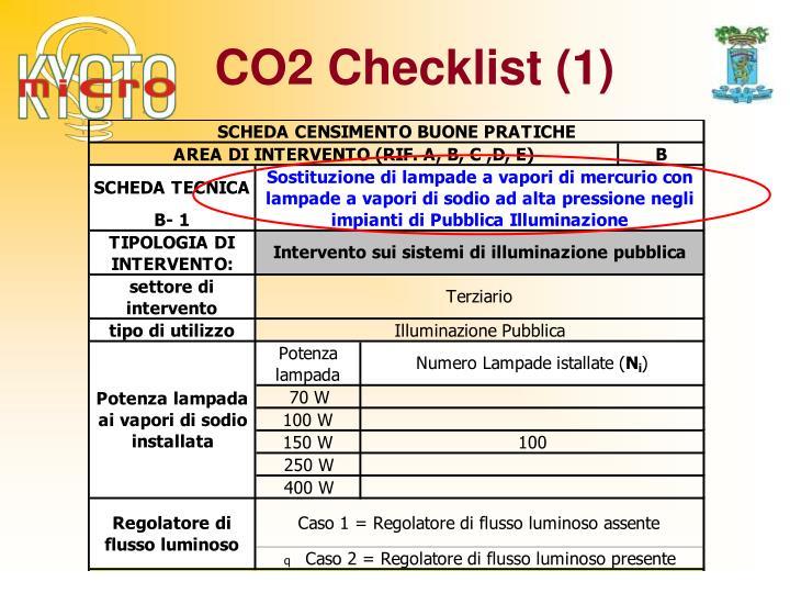CO2 Checklist (1)