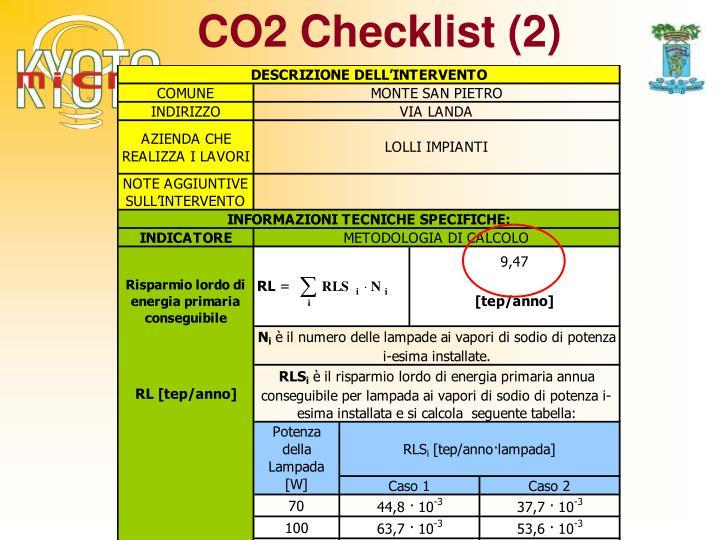 CO2 Checklist (2)