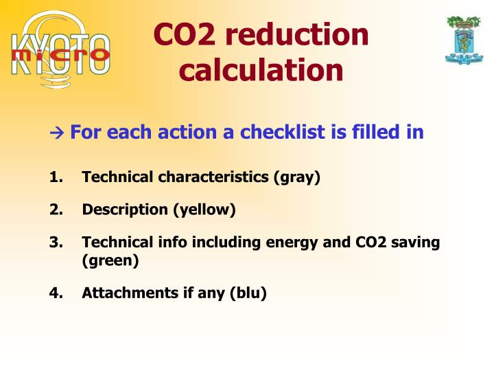 CO2 reduction calculation