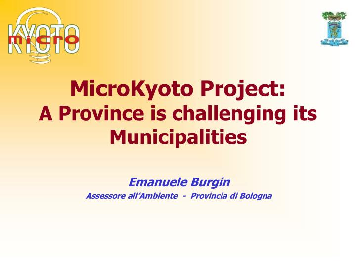 Microkyoto project a province is challenging its municipalities
