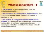 what is innovative 1
