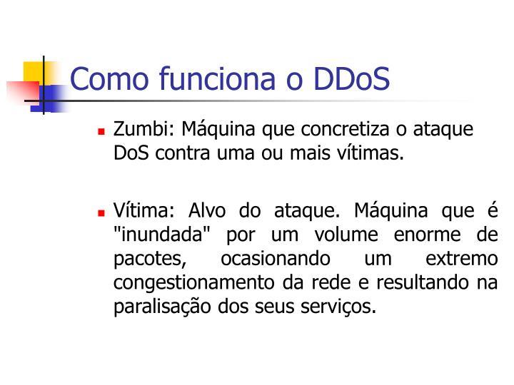 Como funciona o DDoS