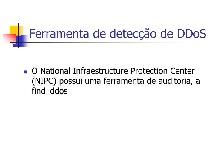 Ferramenta de detecção de DDoS
