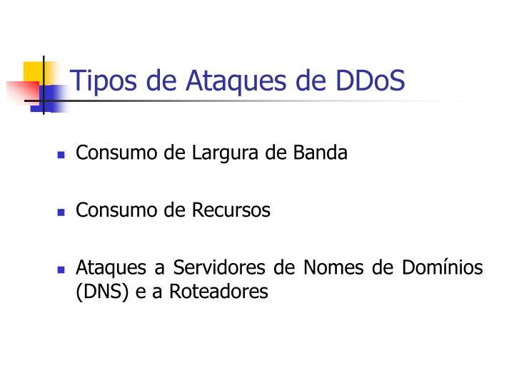 Tipos de Ataques de DDoS