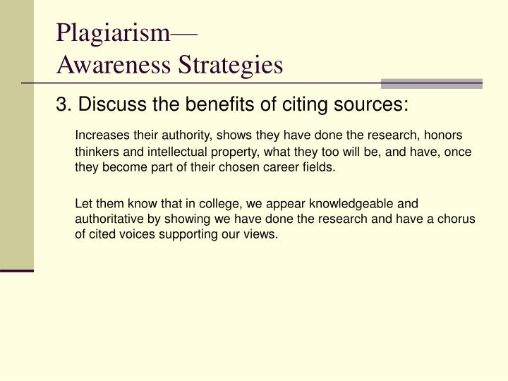 Plagiarism—