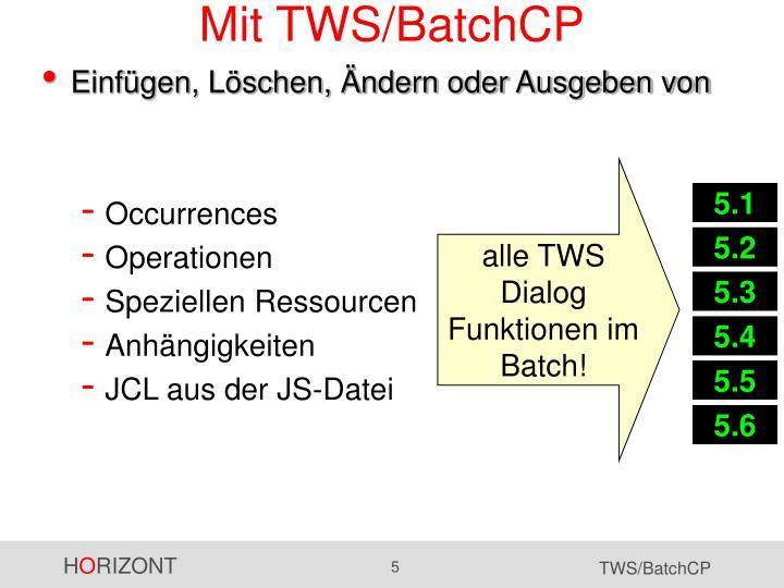 Mit TWS/BatchCP