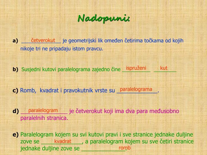 Nadopuni: