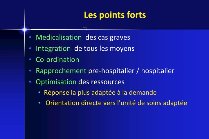 Les points forts