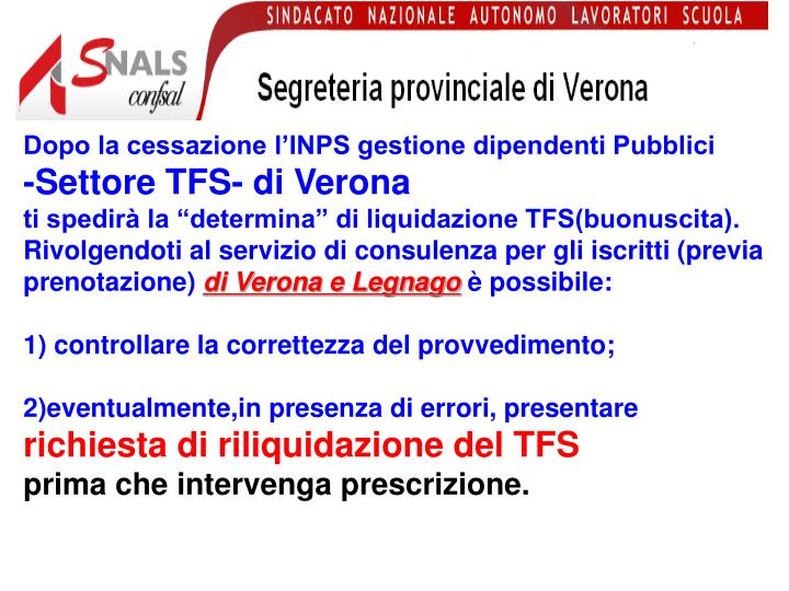 Dopo la cessazione l'INPS gestione dipendenti Pubblici