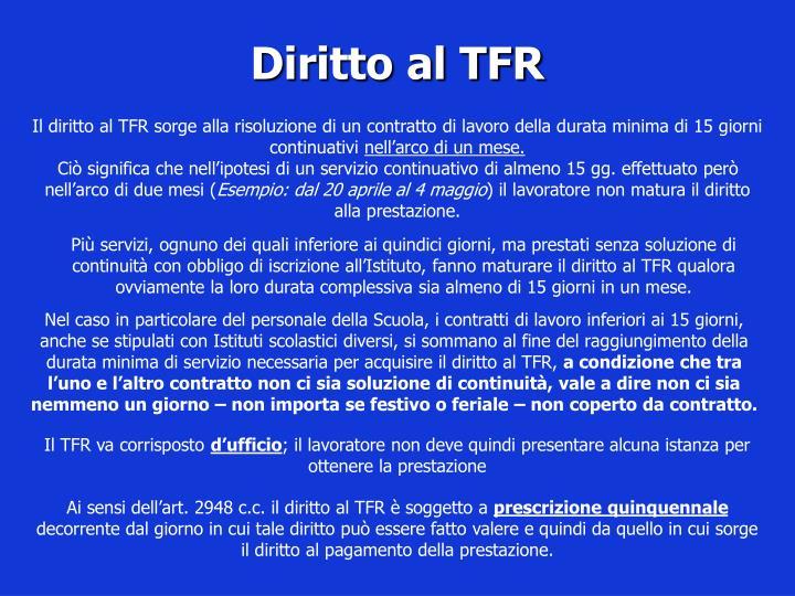 Diritto al TFR