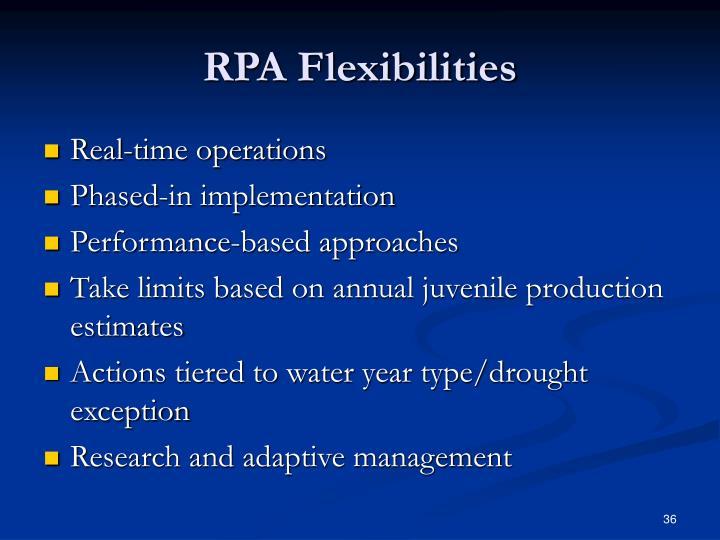 RPA Flexibilities