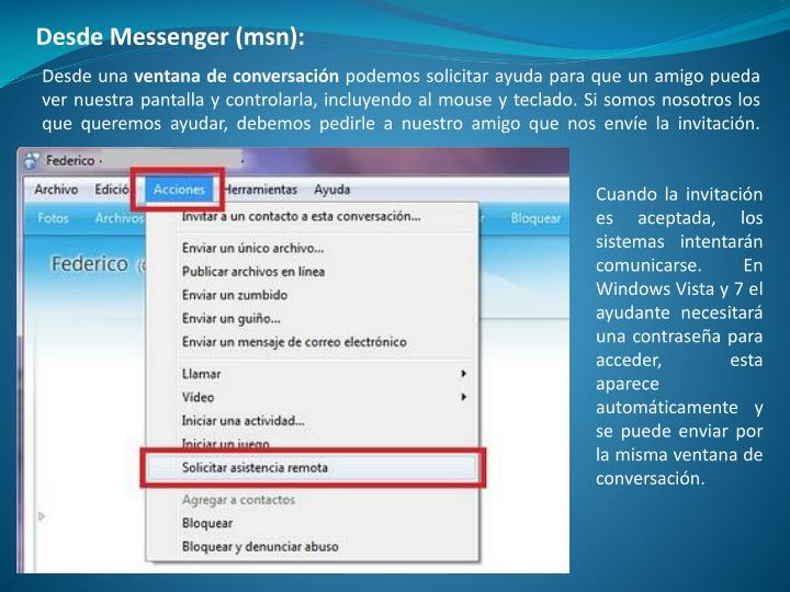Desde Messenger (