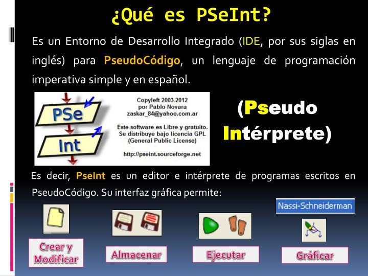 ¿Qué es PSeInt?