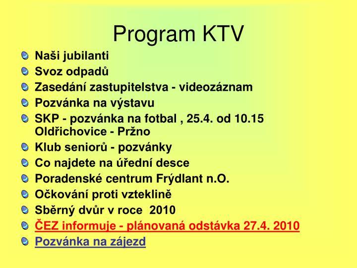 Program KTV