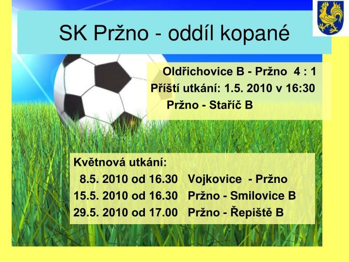 SK Pržno - oddíl kopané