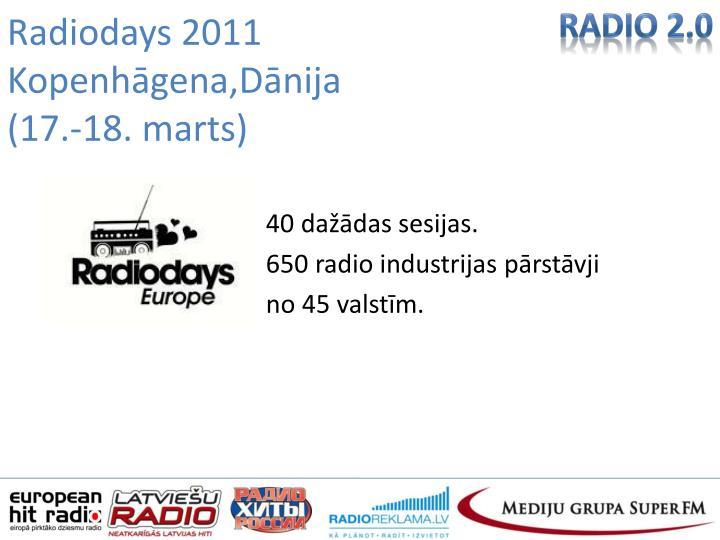 Radiodays 2011