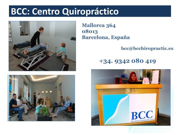 BCC: Centro Quiropráctico
