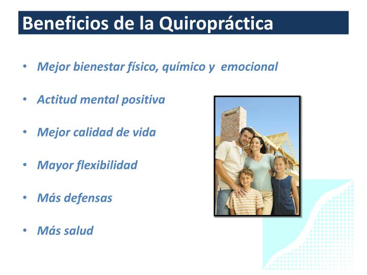 Beneficios de la Quiropráctica