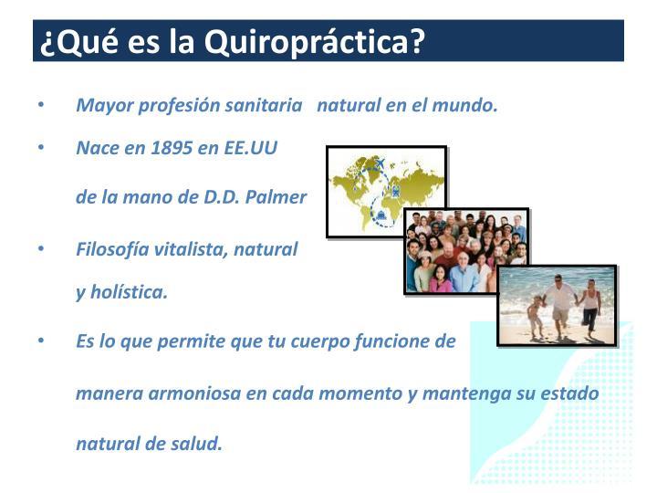 ¿Qué es la Quiropráctica?