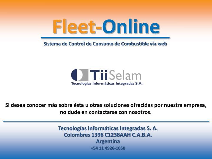 Sistema de Control de Consumo de Combustible vía web