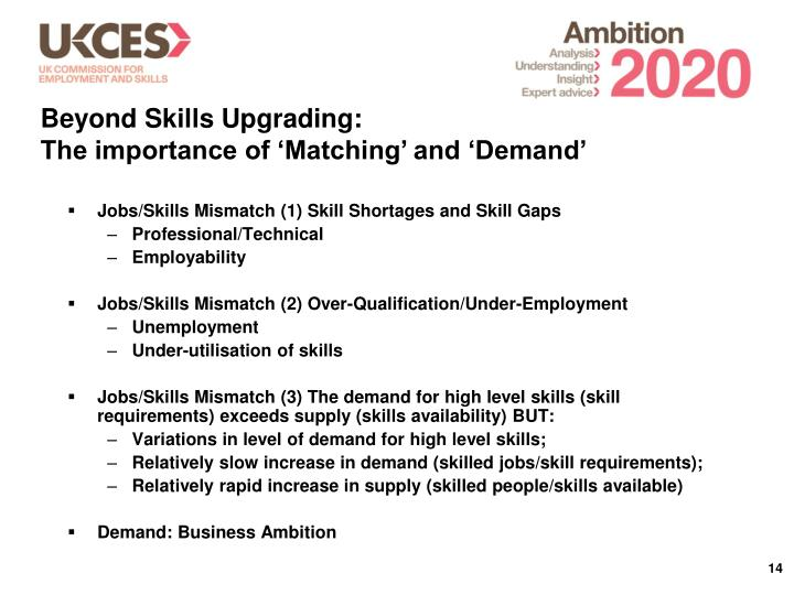 Beyond Skills Upgrading: