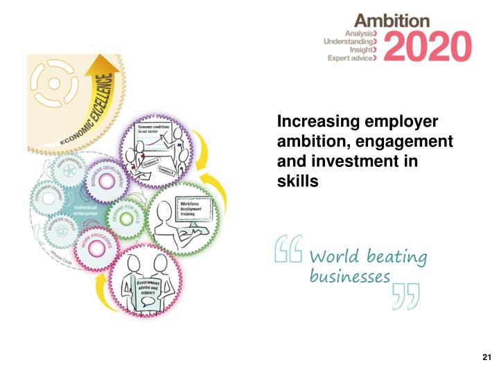 Increasing employer ambition, engagement and investment in skills