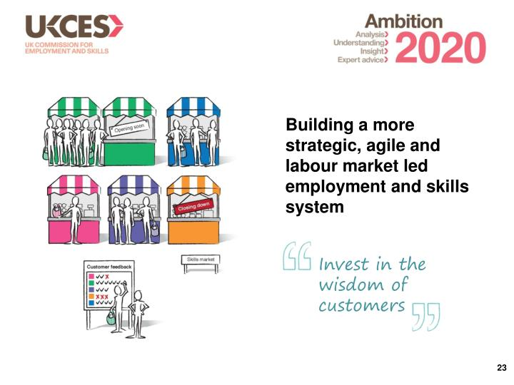 Building a more strategic, agile and labour market led employment and skills system
