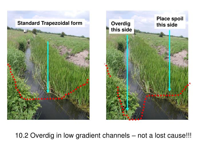 10.2 Overdig in low gradient channels – not a lost cause!!!