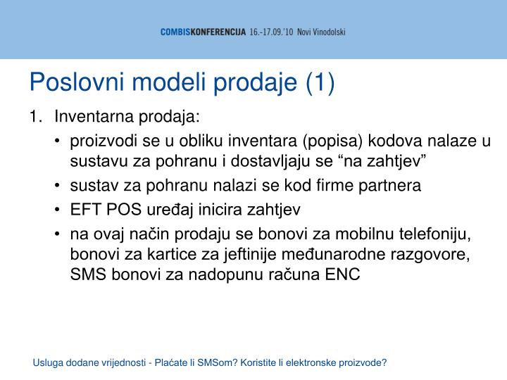 Poslovni modeli prodaje (1)