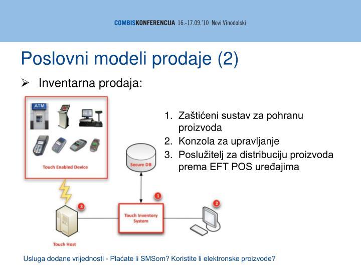 Poslovni modeli prodaje (2)