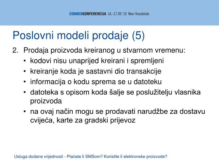 Poslovni modeli prodaje (5)