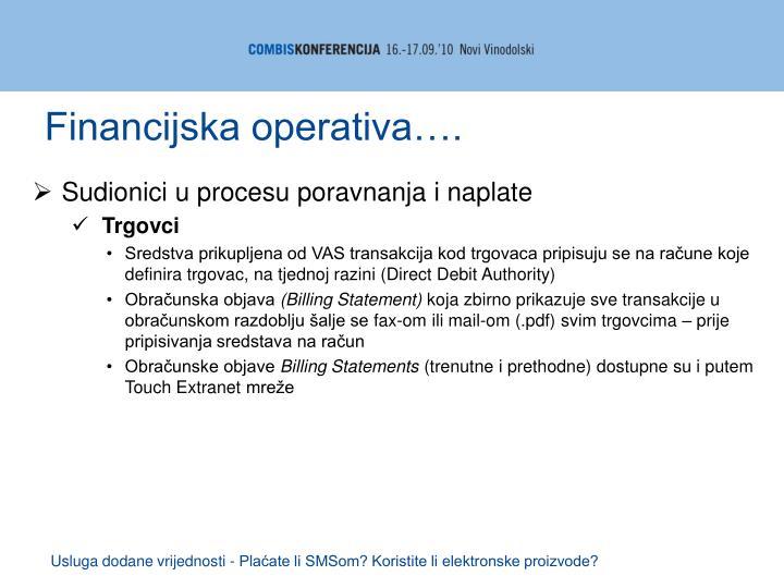 Financijska operativa….