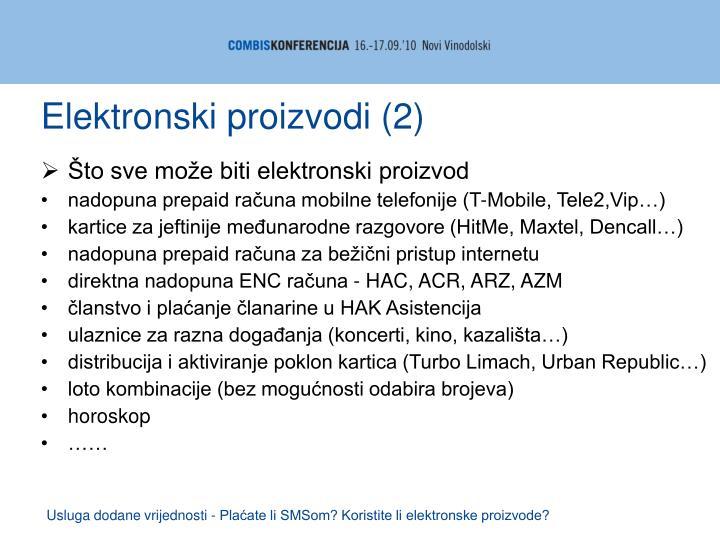 Elektronski proizvodi (2)