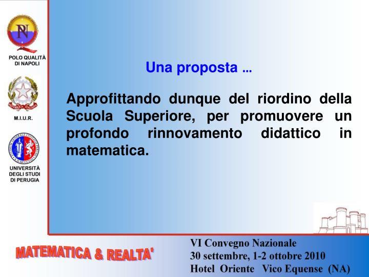Una proposta